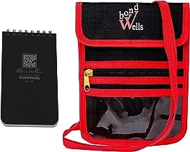 RFID Blocking Passport Holder Travel Wallet Neck Pouch for Men Women Rite in The Rain Top Spiral Pocket Notebook Kit