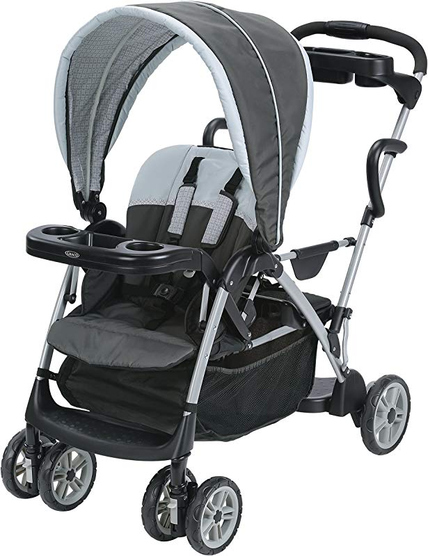 Graco Roomfor2 Stand And Ride Stroller Lightweight Double Stroller With Toddler Standing Platform Gotham