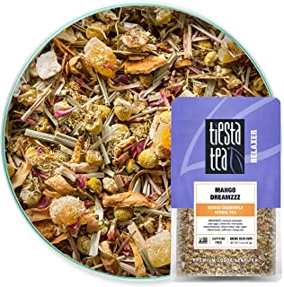 Tiesta Tea - Mango Dreamzzz, Loose Leaf Mango Chamomile Herbal Tea, Non-Caffeinated, Hot & Ice Tea, 1.5 oz Pouch - 25 Cups...