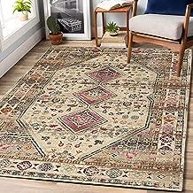 "Rugsville Maleah Oriental Ivory Persian Carpet 5'3"" x 7'6"""