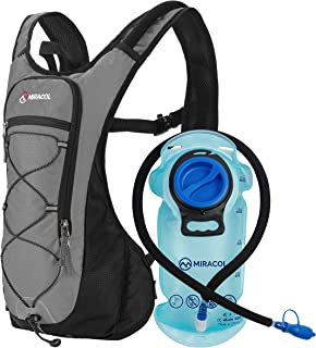 MIRACOL Hydration Backpack with 2L BPA-Free Bladder Lightweight Hydration Pack for Running Hiking Climbing Biking Cycling Skiing