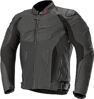 GP Plus R v2 Airflow Leather Street Motorcycle Jacket (52 EU, Black Black)