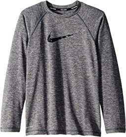 Heather Camo Swoosh Long Sleeve Hydro Guard (Little Kids/Big Kids)