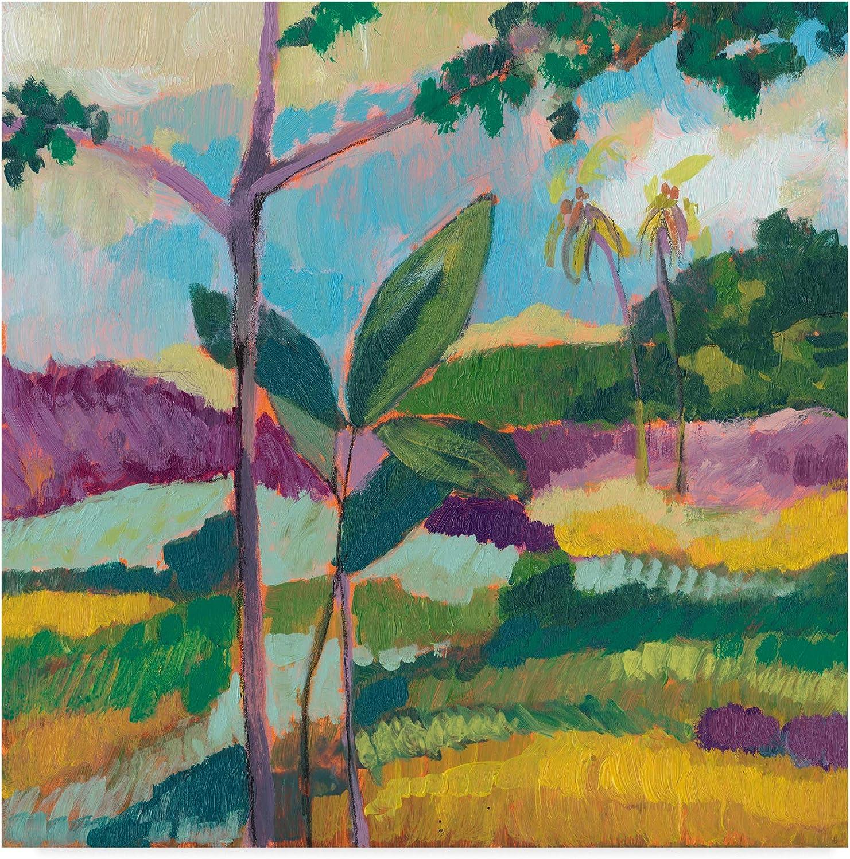 Trademark Fine Art Ode to Gauguin III by Jennifer goldberger, 14x14