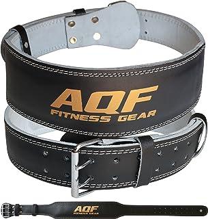 comprar comparacion AQF Cinturon Lumbar Gimnasio para Levantamiento De Pesas De Cuero Acolchado De 4