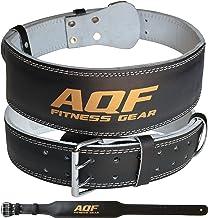 """AQF 4"""" Lederen Gewichtheffende Riem Gevoerde Lumbaal Rugsteun met Suède Voering en stalen Roller Buckle Voorgevormde Fitne..."""