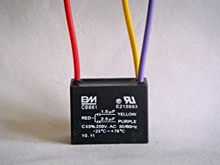 BM Ceiling Fan Capacitor 3 wire 1.5uf 2.5uf