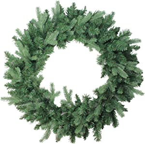"""Northlight Coniferous Mixed Pine Artificial Christmas Wreath, 30"""", Green"""