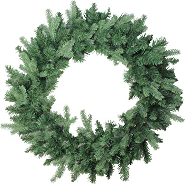 "Northlight Coniferous Mixed Pine Artificial Christmas Wreath, 30"", Green"