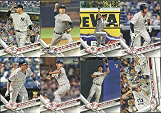 2019, 2018, 2017, 2016, 2015 Topps New York Yankees Baseball Card Team Set Gift Lot (Complete Series 1 & 2 From All 5 Years) 125+ inc. Giancarlo Stanton, Aaron Judge, Sanchez, Torres, Andujar + many Rookie cards in 5 acrylic cases + BONUS Derek Jeter SP R