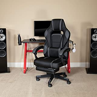 Flash Furniture X40 Gaming Chair Racing Ergonomic Computer Chair with Fully Reclining Back/Arms, Slide-Out Footrest, Massa...