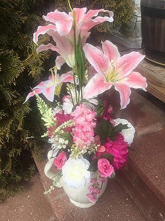 Amazoncom White Decorative Ceramic Vaze With Floral