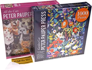All The Cats & Garden Cat Jigsaw Puzzle Bundle