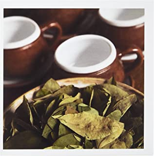3dRose Peru, Cuzco. Coca leaves and tea cups - SA17 BJA0152 - Jaynes Gallery - Greeting Cards, 6 x 6 inches, set of 6 (gc_86965_1)