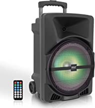 Pyle Wireless Portable PA Speaker System - 800W High Powered Bluetooth Compatible Indoor & Outdoor DJ Sound Stereo Loudspe...