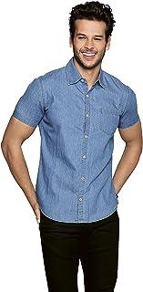 Aditivo Camisa de Mezclilla para Hombre, cómoda y Casual.