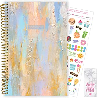 "bloom daily planners 2020-2021 Academic Year Day Planner (July 2020 - July 2021) Organizer & Calendar - Weekly/Monthly Dated Agenda Book with Stickers and Bookmark - 6"" x 8.25"" - Beach Glass"