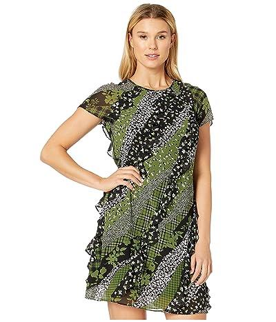MICHAEL Michael Kors Bias Ruffle Dress (Evergreen) Women