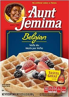 Aunt Jemima Belgian Waffle Mix, 32 oz (Pack of 2)