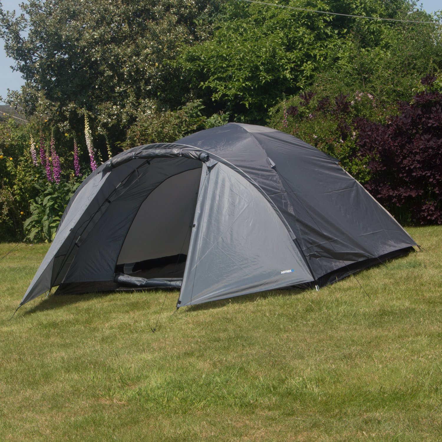 Adtrek Double Skin Dome 4 Man Berth C&ing Festival Family Tent & 4 Man Pop Up Tents: Amazon.co.uk