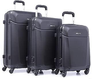 PARAJOHN Hardside 3-Piece Trolley Luggage Set Black