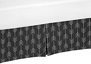 Sweet Jojo Designs Black and White Woodland Arrow Pleated Twin Bed Skirt Dust Ruffle for Rustic Patch Collection