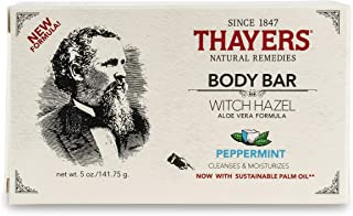 THAYERS Witch Hazel Body Bar, (164066) Peppermint 5 Ounce