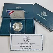 1998 S Black Revolutionary War Patriots Commemorative Silver Dollar Proof