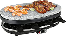 NutriChef Raclette Grill, 8 Person Party Cooktop