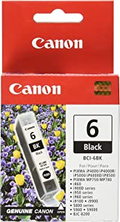 Canon BCI-6 Black Ink Tank Compatible to iP8500, iP6000D, iP5000, iP4000R, iP4000, i9900, i9100, i960, i950, i900D, i860, S9000, S900, MP780, MP760, MP750, S830D, 820D, S820, S800, BJC 8200