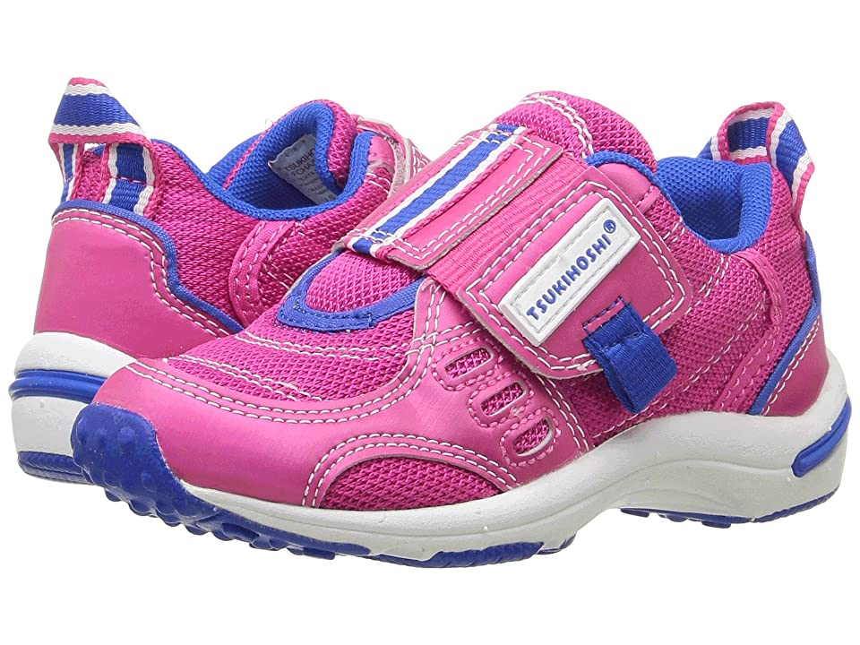 Tsukihoshi Kids Euro (Toddler/Little Kid) (Fuchsia/Blue) Girls Shoes