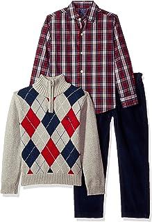 IZOD Kids Boys' 3-Piece Sweater, Dress Shirt, and Pants Set