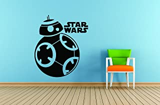 Design with Vinyl 1 Star Wars 8 12X12 Wall Decal, 12 Inches X 12 Inches, Black