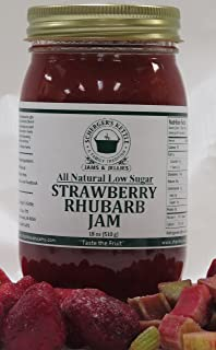 Strawberry Rhubarb Jam, All Natural/Low Sugar, 18 oz