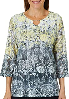 cb43efd622daa Amazon.com  Alfred Dunner - Blouses   Button-Down Shirts   Tops ...