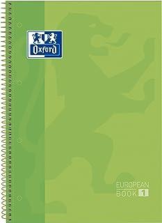 Oxford 100430199 - Cuaderno microperforado, A4 +, cuadrado, 90 g / m², Papel óptica, 80 hojas, Color verde
