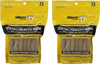 (2 Pack) Indigenous Dental Health Bones Roasted Chicken 17 Ounces each