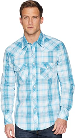 Long Sleeve Snap Plaid B2S6032