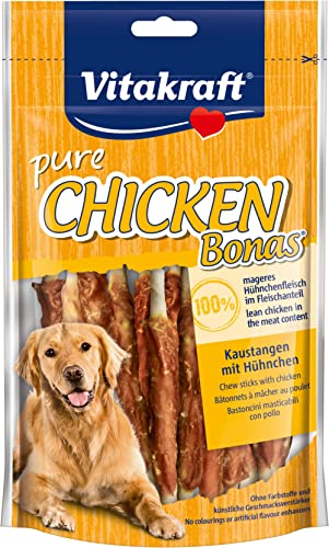 Vitakraft Bonas - Friandise au poulet pour chien - 1 sachet de 80g de bâtonnets à mâcher