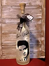 Elvis Wine Bottle Decoration Mother's Day Father's Day Gift Glass
