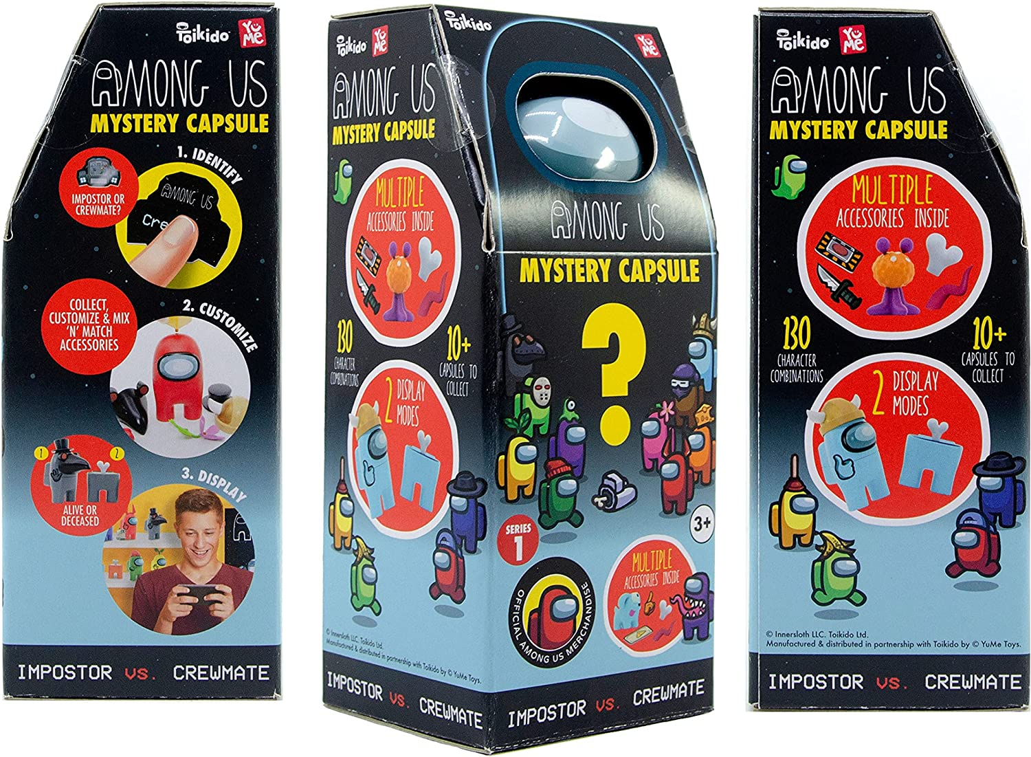 Official Toikido- Yume Among Us Mystery Capsules Impostor vs Crewmate (2pcs/...