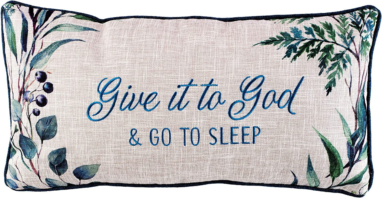 NEW Christian Art Gifts Decorative Throw Pillow to and It God Give Same day shipping