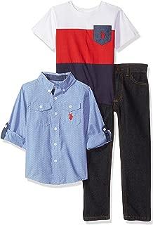 U.S. Polo Assn. Boys' Long Sleeve, T-Shirt and Pant Set