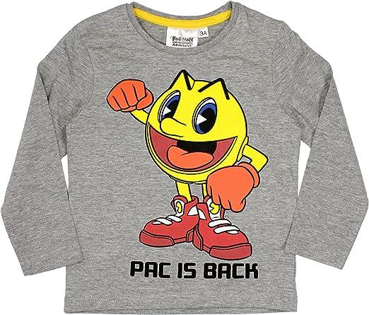 Pac Man Pacman - Camiseta de manga larga para niños (3/8 años)