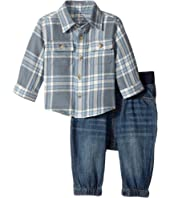 Ralph Lauren Baby - Plaid Shirt & Denim Jogger Set (Infant)