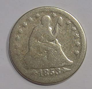 1853 P Seated Liberty Quarter wth arrows 25c Good