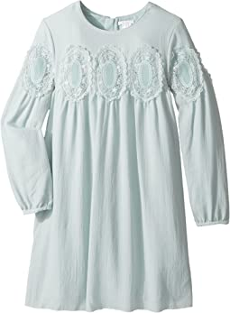 Chloe Kids - Couture Mini Me Long Sleeve Medallions Lace Dress (Big Kids)