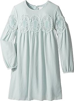 Chloe Kids - Couture Mini Me Long Sleeve Medallions Lace Dress (Big Kids)