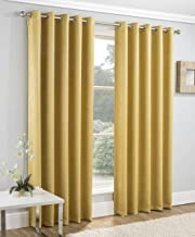 Enhanced Living Curtains, Gold, Orchre, Yellow, Width-66 (168cm) x Drop-90 (229cm)
