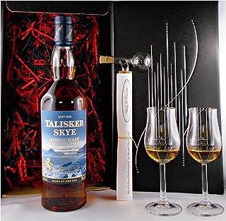 Geschenk Talisker Skye Single Malt Whisky  Glaskugelportionierer  2 Bugatti Gläser